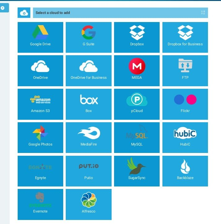 Transfer file between different cloud service