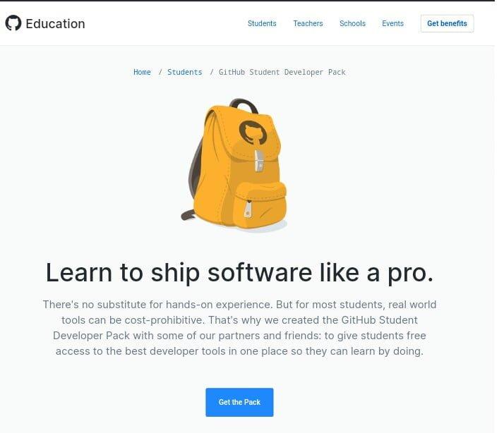 Github students developer pack