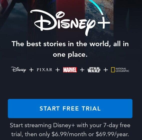 how to get Disney plus free trial