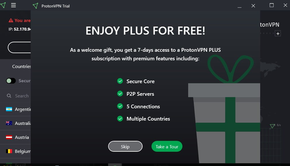 Premium vpn for PC for free- protonvpn Plus for free
