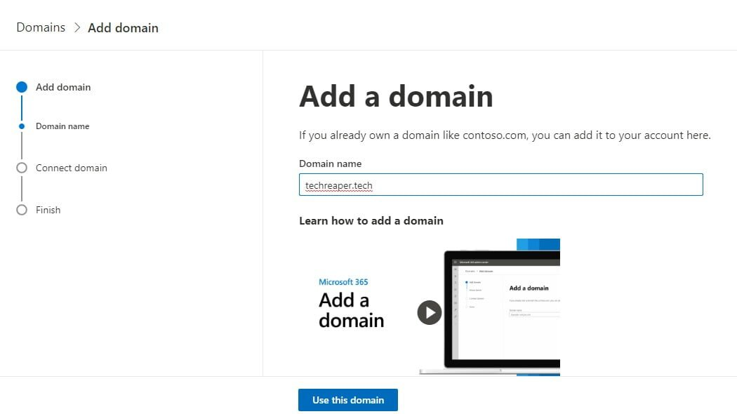 Custom business email address for free on private domain name
