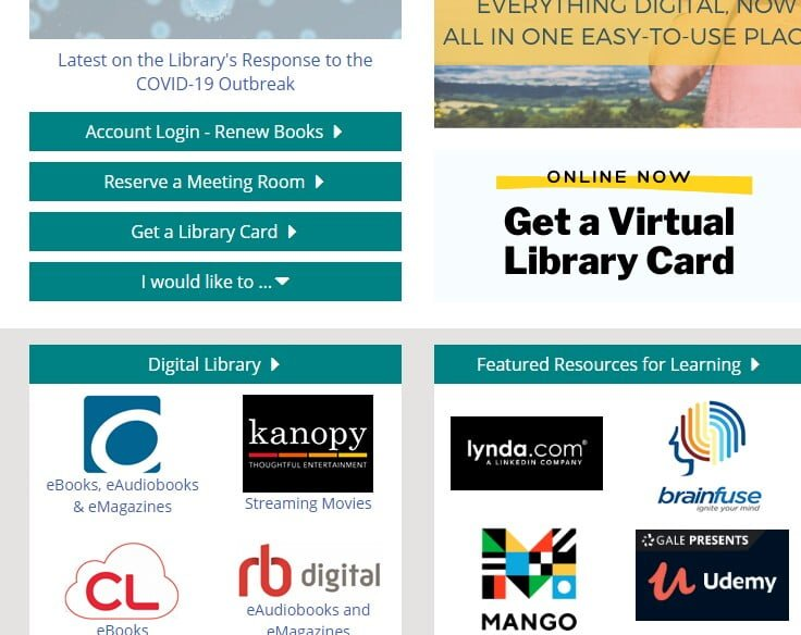 Library card for free