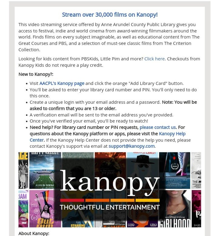 Kanopy for free