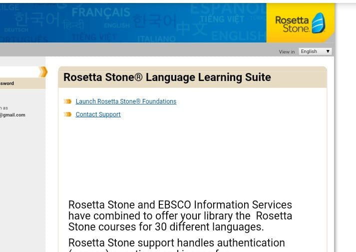 Foreign language learning for free with rosetta stone