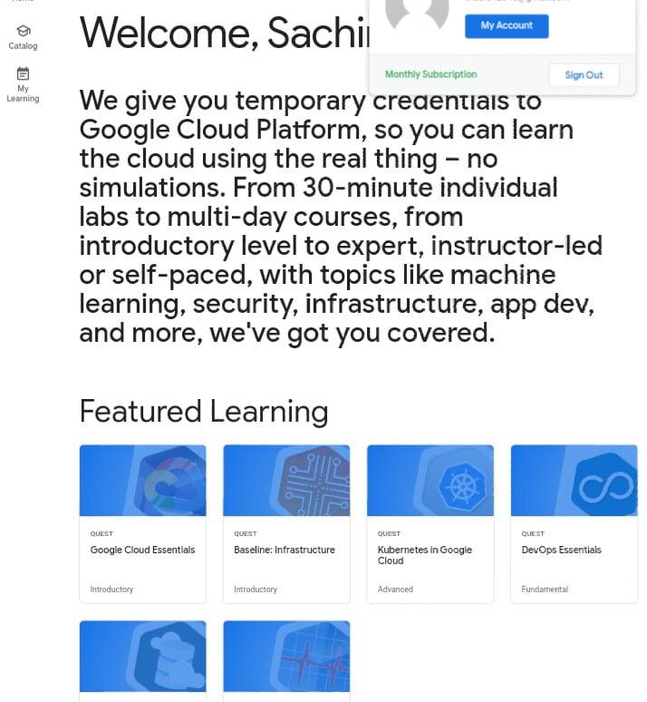 Google cloud free