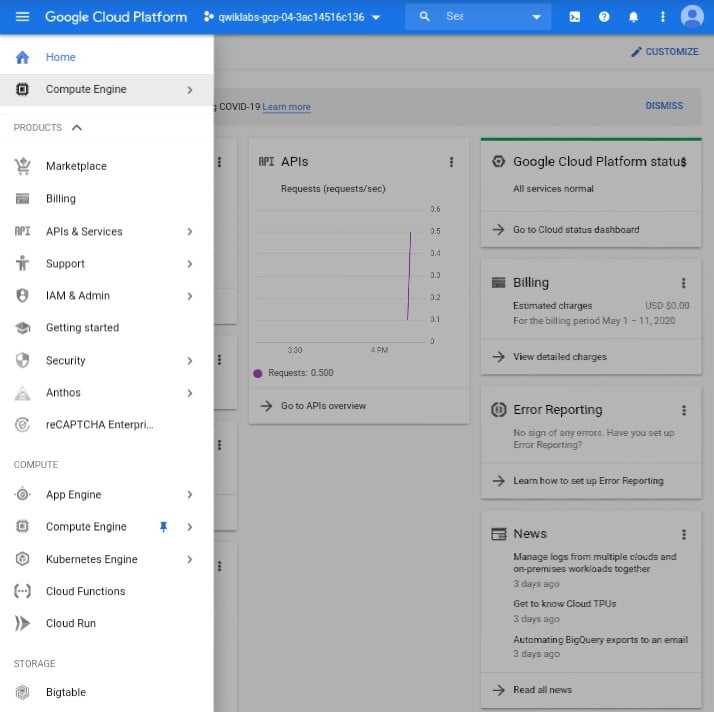 Google cloud for free student