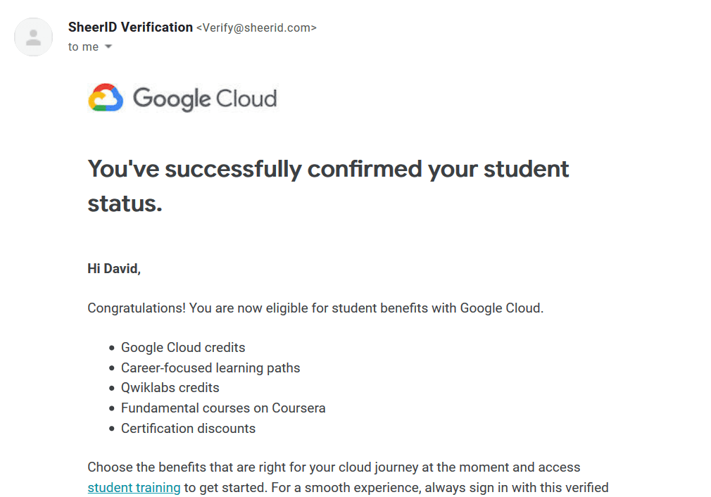 Google cloud free