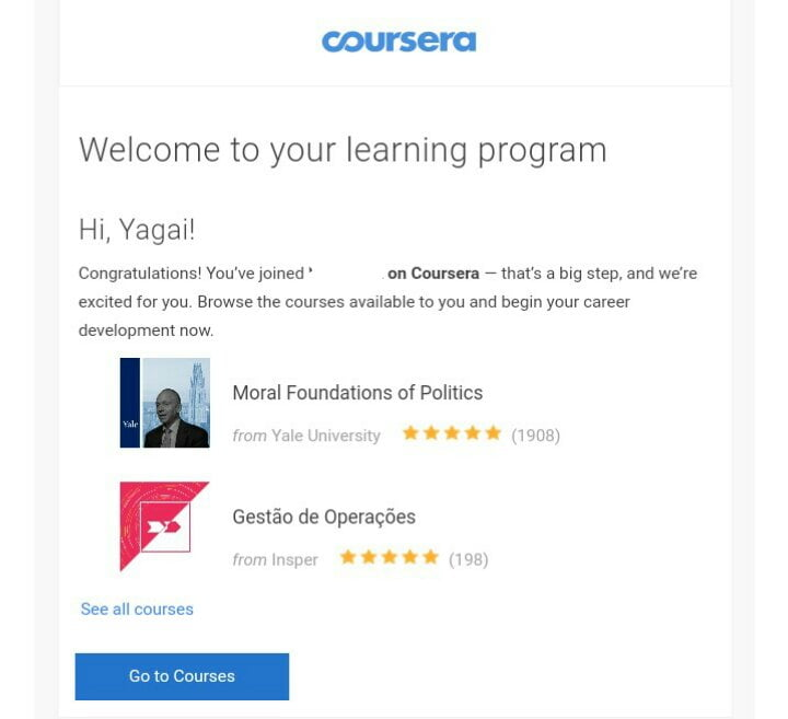 Coursera for free