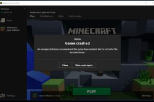 Minecraft keeps crashing