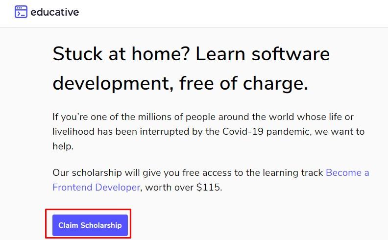 educative.io free with scholarship