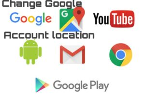 Change google account location