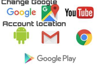 Change google account location