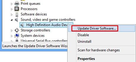 Update driver software - Fix audio problems