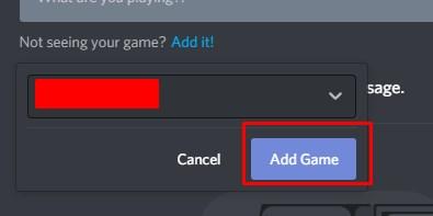 manually add game in dsicord