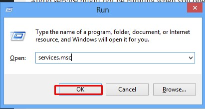 restart audio service error