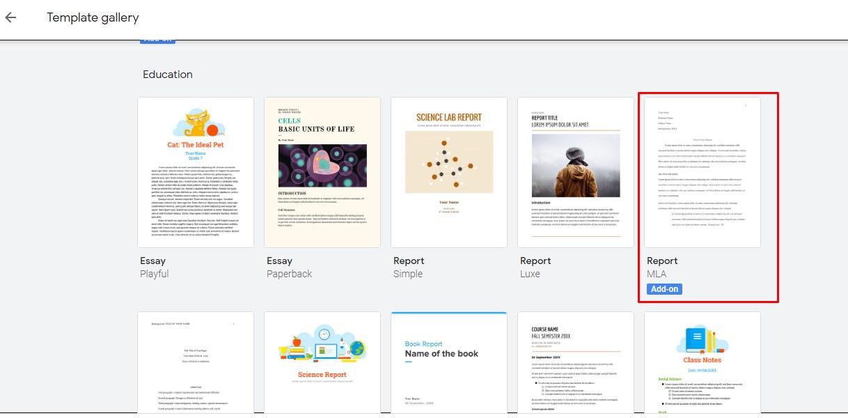 How to format docs to MLA via google docs