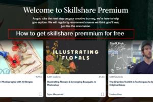 how to get skillshare premium for free