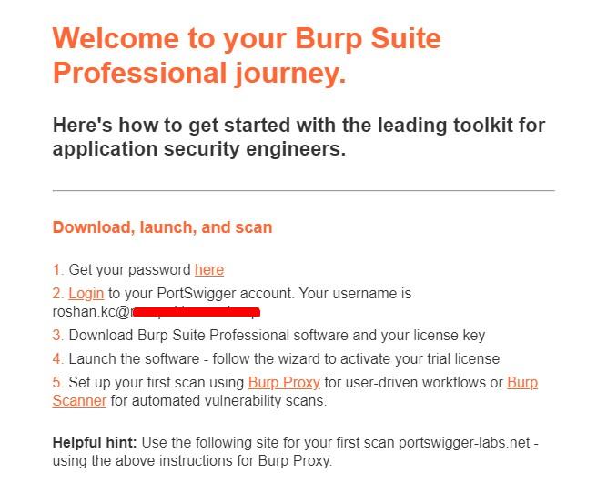 free burpsuite pro license