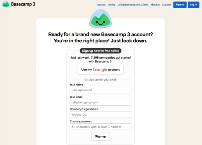 reducing friction- basecamp