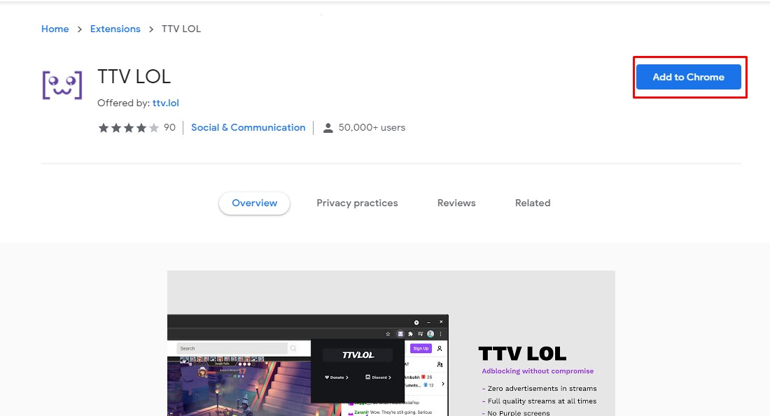 block twitch ads using TTV LOL