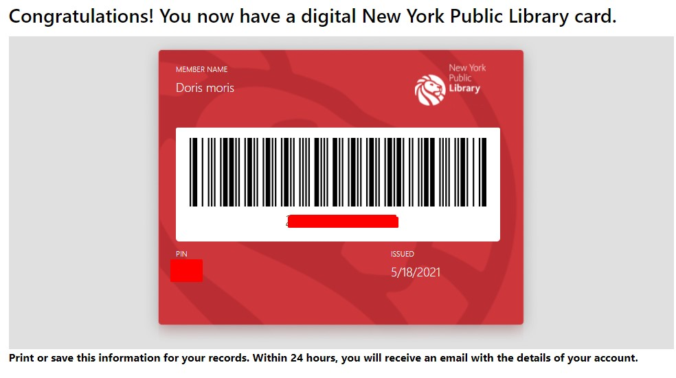 library card details for linkedIn learning free